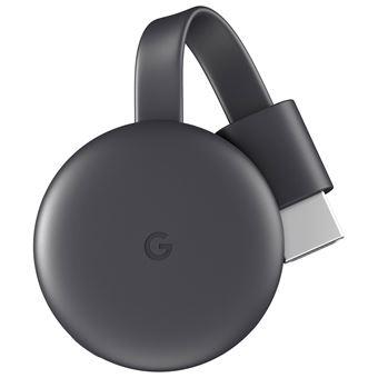 Google Chromecast 3 conetor Smart TV Full HD HDMI Carbono