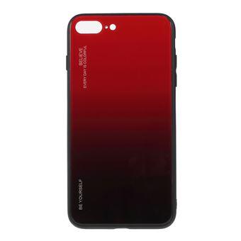 Capa TPU vidro de cor gradiente vermelho/preto para Apple iPhone 8 Plus/7 Plus