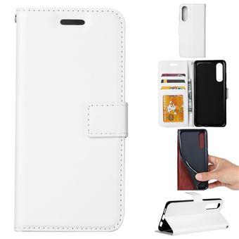 Capa PU Magunivers cavalo louco com suporte branco para Samsung Galaxy A50