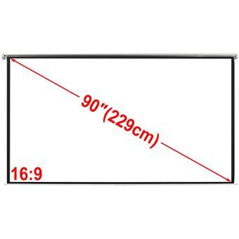 Tela de Projeção Manual vidaXL 200 x 113cm 16:9 para Parede/Teto Branco Fosco
