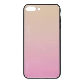 Capa TPU vidro de cor gradiente ouro/rosa para Apple iPhone 8 Plus/7 Plus