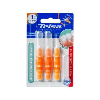Trisa 667137 escova de dentes Adulto Laranja