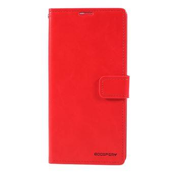 Capa PU lua azul vermelho para Samsung Galaxy A50