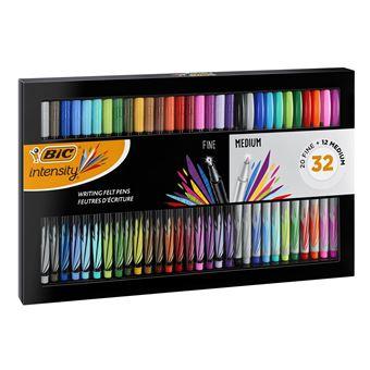 BIC 972135 caneta de feltro Fino/médio Preto, Azul, Castanho, Verde, Azul Claro, Verde claro, Laranja, Rosa, Roxo, Vermelho, Amarelo  Multi cor