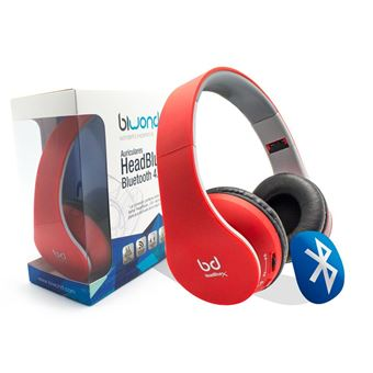 Auricular Bluetooth Cn Headazulx 4.0 Vermelho Biwond