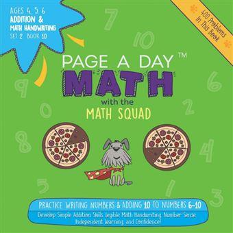 page ADay Math Addition Math Handwriting Book  Set Paperback -