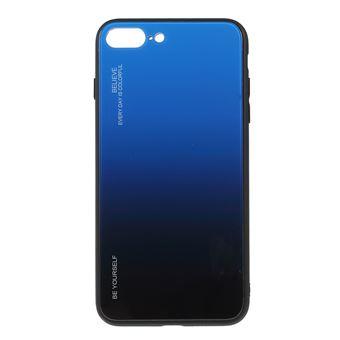 Capa TPU vidro de cor gradiente azul/preto para Apple iPhone 8 Plus/7 Plus