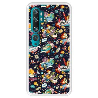 Capa Tpu Hapdey para Xiaomi Mi Note 10 - Note 10 Pro - Cc9 Pro | Design Padrão de Constelação | Galáxia 4 - Transparente