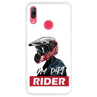 Capa Hapdey para Huawei Y7 2019 - Y7 Prime 2019 Design I'm Dirt Rider em Silicone Flexível e TPU