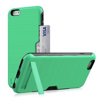 Capa Magunivers TPU suporte para cartão de kickstand verde para Apple iPhone 8/7 4.7 inch
