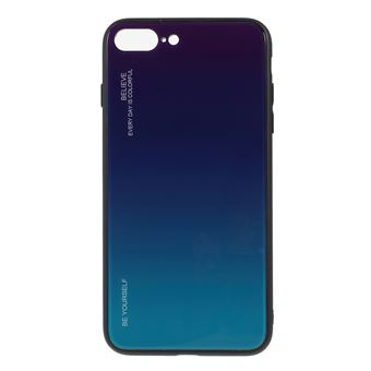 Capa TPU vidro de cor gradiente roxo/azul para Apple iPhone 8 Plus/7 Plus