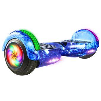 Hoverboard Elétrico MEIQU M6 | Inteligente | 10km/h | LED | Música | Bluetooth - Azul