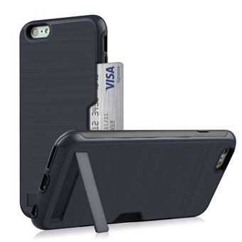 Capa Magunivers TPU suporte para cartão de kickstand azul escuro para Apple iPhone 8/7 4.7 inch