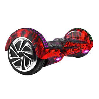 Hoverboard Elétrico MEIQU M6S | Inteligente | 10km/h | LED | Música | Bluetooth - Vermelho