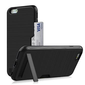 Capa Magunivers TPU suporte para cartão de kickstand preto para Apple iPhone 8/7 4.7 inch