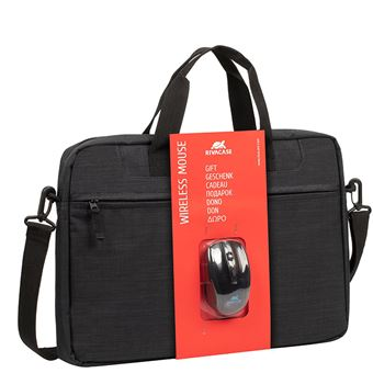 "Rivacase 8038 + WIRELESS MOUSE 39.6 cm (15.6"") Briefcase Black"