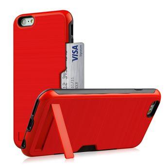 Capa Magunivers TPU suporte para cartão de kickstand vermelho para Apple iPhone 8/7 4.7 inch