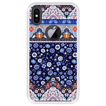 Capa Tpu Hapdey para Iphone X - Xs | Design Padrão Tribal de Tapete Indiano - Transparente