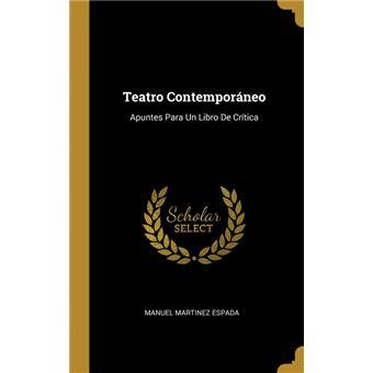 teatro Contemporáneo Hardcover