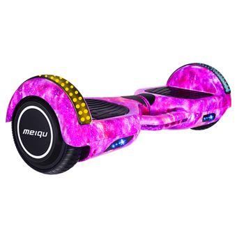 Hoverboard Elétrico MEIQU M3 | Inteligente | 10km/h | LED | Música | Bluetooth - Violeta