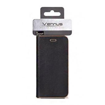 Capa Vennus Flip Carteira para iPhone 7 / iPhone 8 Preto