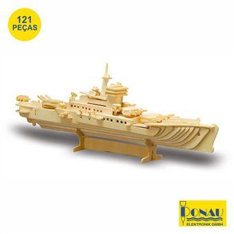 Navio Militar Modelismo Donau Painéis de Contraplacado com 121 Peças