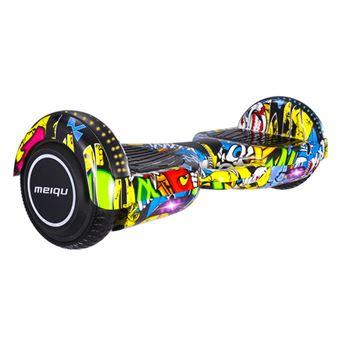 Hoverboard Elétrico MEIQU M3 | Inteligente | 10km/h | LED | Música | Bluetooth - Multicolor