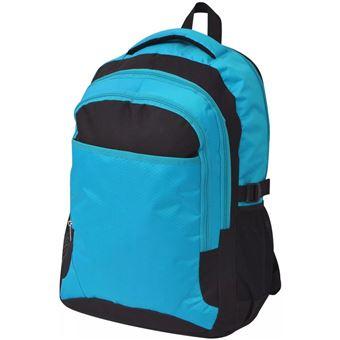 Mochila Escolar vidaXL de 40 L Preto e Azul