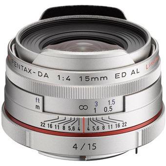 Pentax HD DA 15mm F4 ED AL Limited SLR Grande angular Prateado