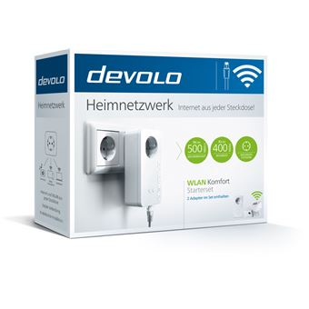 Devolo 9873 adaptador de rede elétrica 500 Mbit/s Ethernet LAN Wi-Fi Branco 2 peça(s)