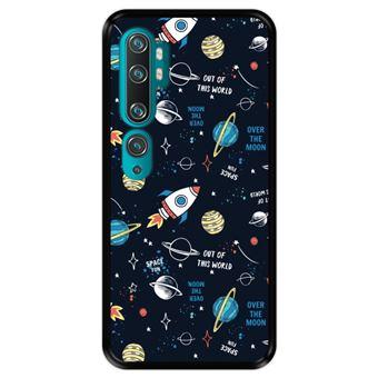 Capa Tpu Hapdey para Xiaomi Mi Note 10 - Note 10 Pro - Cc9 Pro | Design Padrão de Constelação | Galáxia 3 - Preto
