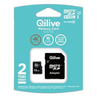 cartão de memória Qilive Q.8705 16GB MicroSDHC UHS-I Class 10  Preto