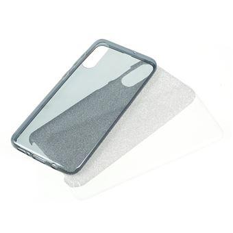 Capa TPU combinação de papel flash azul para Samsung Galaxy A50