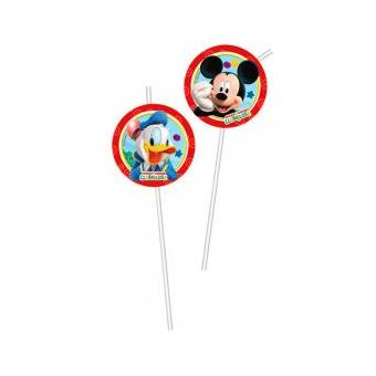Conjunto 6 Palhinhas Mickey Disney Playful Sortido
