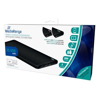 Power Bank MediaRange MR748 25000 mAh Preto