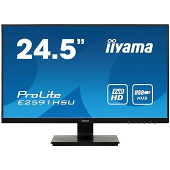 "Monitor de ecrã iiyama ProLite E2591HSU-B1 LED display 62,2 cm (24.5"") 1920 x 1080 pixels Full HD Preto"