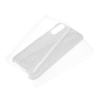 Capa TPU combinação de papel flash transparente para Samsung Galaxy A50