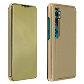 Capa Proteção Avizar para Xiaomi Mi Note 10 /10 Pro | Translúcida | Espelho | Suporte - Dourado