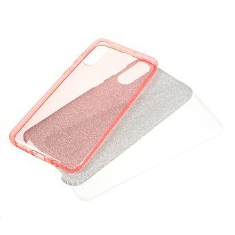 Capa TPU combinação de papel flash ouro rosa para Samsung Galaxy A50