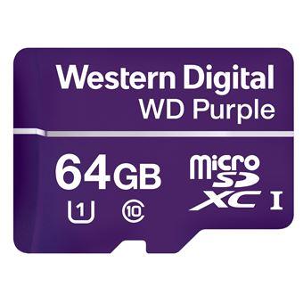 cartão de memória Western Digital Purple 64GB MicroSDXC Class 10  Roxo