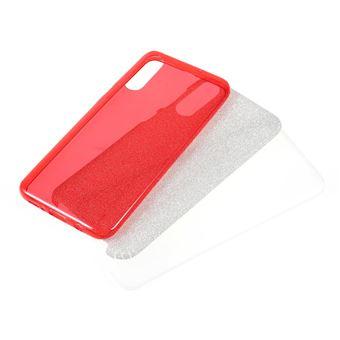Capa TPU combinação de papel flash vermelho para Samsung Galaxy A50
