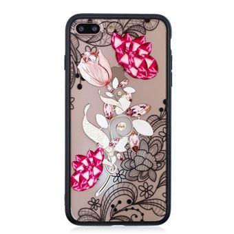 Capa Magunivers TPU 3D de strass flor vívida para Apple iPhone 8 Plus/7 Plus 5.5 '