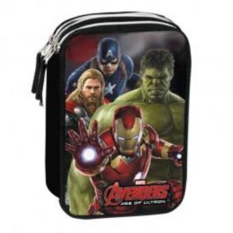 Estojo Vingadores Marvel Mighty Três Compartimentos