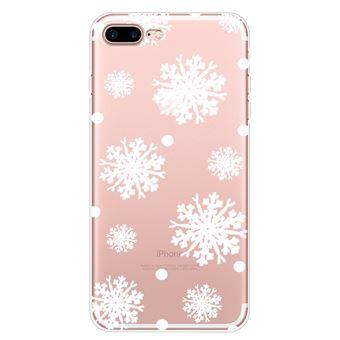 Capa Magunivers TPU padrão impressão macio grande floco de neve para Apple iPhone 8 Plus/7 Plus 5.5 inch
