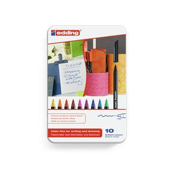 Edding 1200 colourpen caneta de feltro Fina Preto, Azul, Castanho, Verde, Laranja, Rosa, Roxo, Vermelho, Amarelo 10 peça(s) Multi cor