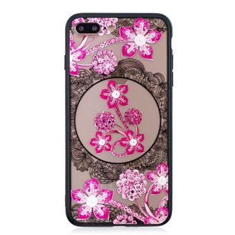 Capa Magunivers TPU 3D de strass Flor rosa para Apple iPhone 8 Plus/7 Plus 5.5 '