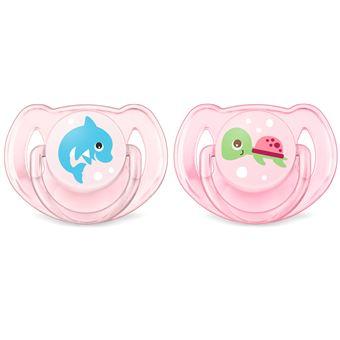 Chupeta para bebé philips avent scf169/38 chupeta clássica para bebé silicone rosa