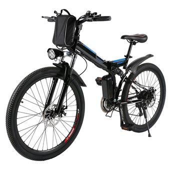Bicicleta Elétrica de Montanha Ancheer MYT-26-WLGB UK Plug Preto