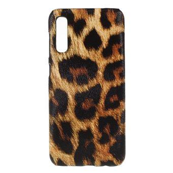Capa TPU + PU leopardo para Samsung Galaxy A50