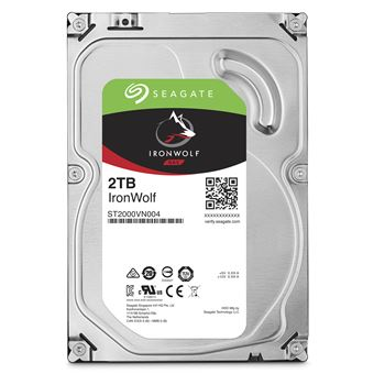 Disco Interno HDD Seagate Ironwolf 3.5'' SATA 6GB/s 59rp-nas 64mb 2TB